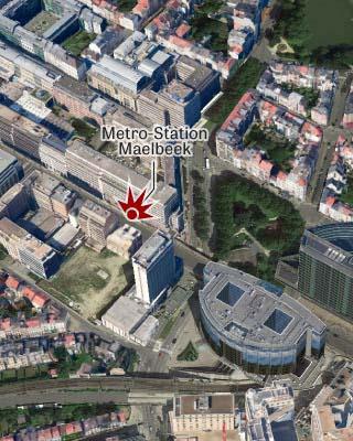 Brüssel, Maelbeek, U-Bahn, Metrostation, Karte